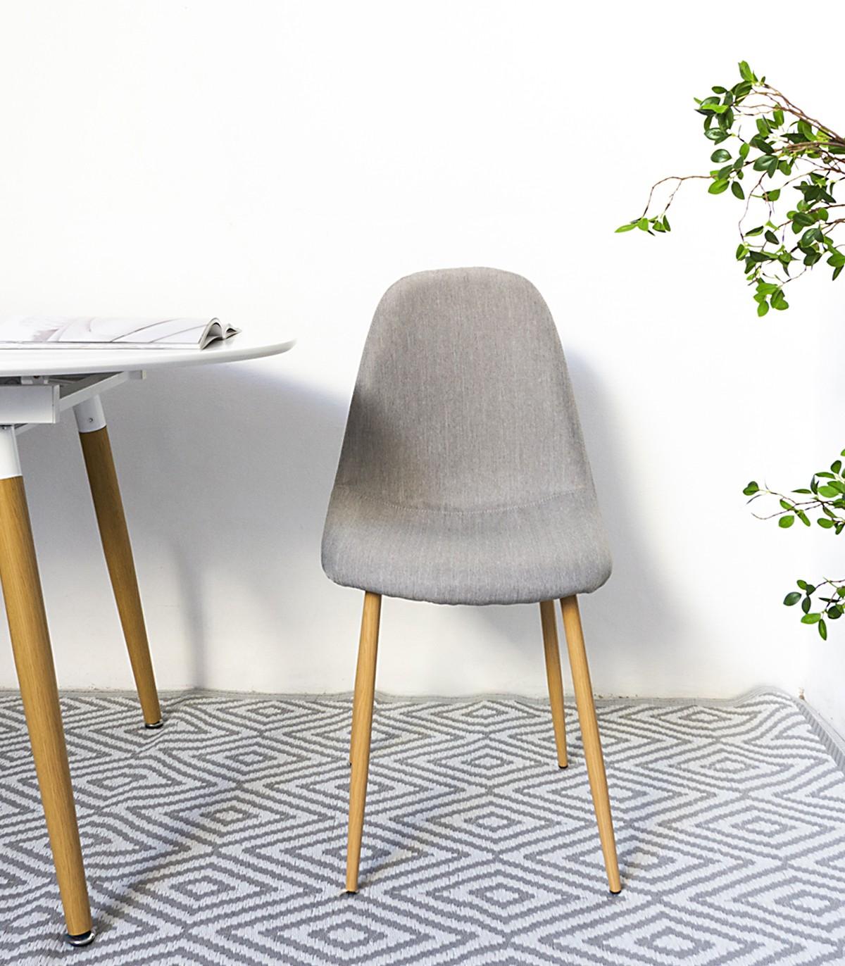 Silla rústica Oslo, con patas de madera